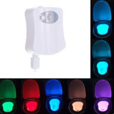 Battery Operated Dusk Till Dawn Light Amazon Com Galapara Toilet Night Light 8 Colors Led Toilet