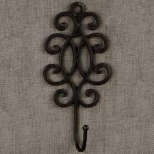 neoteric decorative wall hanger hook elegant wrought iron in within 14 for plate picture quilt guitar