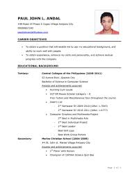 Ideas Collection Resume Format Sample Doc Philippines Resume Ixiplay ...