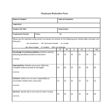 Performance Feedback Form Template Free Employee Evaluation
