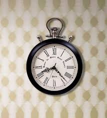 home sparkle black oversized pocket watch wall clock pocket watches vintage decor pepperfry