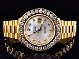 mens rolex watch presidential excellent mens presidential style rolex datejust xl 7 2 ct diamond bezel