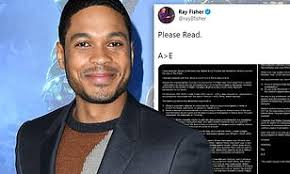 In the musty corridors of hollywood ray fisher has made accusations against justice league director joss whedon picture. Ray Fisher Reveals His Cyborg Character Is Being Removed From The Flash Daily Mail Online