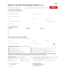 Child Care Incident Report Example Injury Incident Report Form Template
