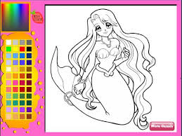 Mermaid Coloring Pages For Kids Mermaid Coloring Pages Youtube