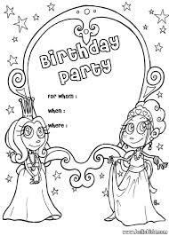 Small Picture Princess birthday party invitation coloring pages Hellokidscom