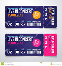 Concert Invite Template Vector Illustration Concert Ticket Template Concert Party