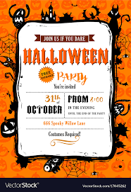 Photo Party Invitations Halloween Party Invitation In Frame