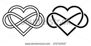 infinity love. intertwined heart with the sign of infinity. love forever infinity e