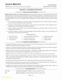 Construction Superintendent Resume Templates Best Of Construction