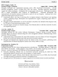 Database Engineer Sample Resume 9 Administrator Cv Template