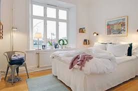 Luury Whire Swedish Bedroom Interior Design Strategy In Home Style  Arranging ...