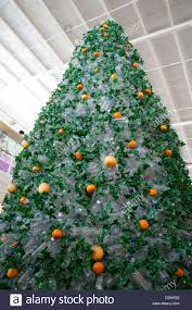 Christmas Decorations Made Out Of Plastic Bottles Christmas tree made using recycled empty mineral water plastic 37