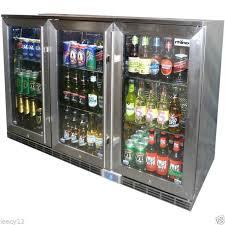 brand new rhino bar fridge alfresco glass 3 door 330 litres energy efficient