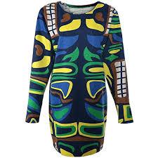 Buy <b>Fashionable Scoop Neck</b> Oversized Long Sleeve Multi-<b>Colored</b> ...