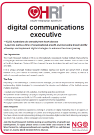 Digital Communications Resume Ngo Recruitment Communications And Media
