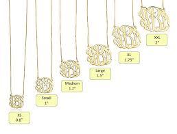 24k Gold Plated Celebrity Monogram Necklace