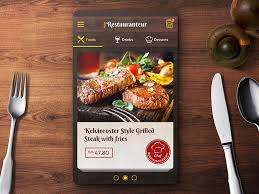 restaurant menu design app restaurant menu ordering app ui design by jonath lee on dribbble