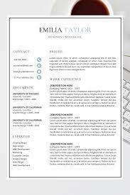 Modern Cv Format Student Resume Format Best Cv Templates Word