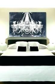 chandelier canvas painting white