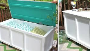 77 diy bench ideas storage pallet garden cushion rilane storage bench with cushions and storage bins
