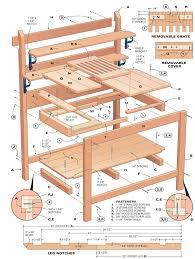 Ideas Con Palé Para Toda La Casa  Pallet Garden Benches Pallets Plans For A Potting Bench