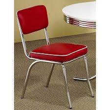 red retro chairs. Rose Red Retro Chrome Chairs (Set Of 2) O