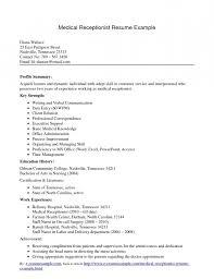 Resume Sample Medical Receptionist Resume Sample No Experience resume sample