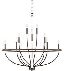 capital lighting 428501bz greyson 12 light 40 inch bronze chandelier ceiling light homeplace