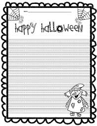 halloween writing paper by forehand s phenomenal firsties tpt halloween writing paper