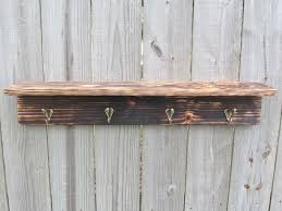 custom rustic wood shelf with hooks made from reclaimed pallet wood coat rack by reclaimed interior custommade com