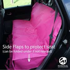 rear car seat cover petastical waterproof car seat protector for dogs and kids hammock