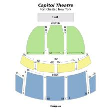capitol theatre ny theater seating chart