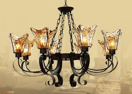 amber glass chandelier shades