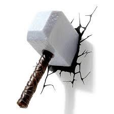 Thor Hammer 3d Wall Light 15 Best Collection Of Thor Hammer 3d Wall Art