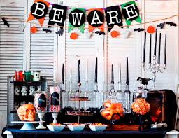 Kitchen Ornament Scary Halloween Table Decor Beware Garland Pumpkin Hanging