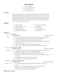 Cv Template Office Personal Assistant Cv Templates Free Resume Template Example