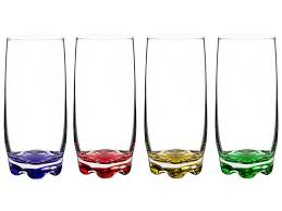 the best colorful drinking glasses