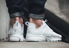 the nike air presto triple white releases in leather