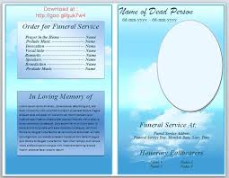 Funeral Service Templates Word Enchanting Blank Funeral Program Template Word Free Download Brochure