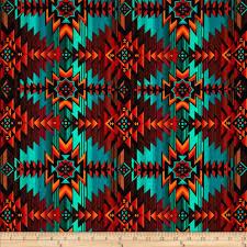 Southwest Pattern Extraordinary Timeless Treasures Southwest Blanket Turquoise Discount Designer