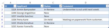 excel worksheet filtering sle
