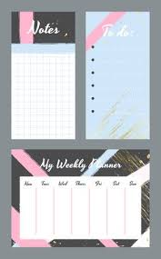 Weekly Planner Template. Organizer And Schedule With Notes And ...