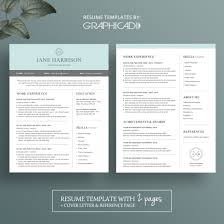 Resume Template Modern Two Page Cv Templates Two Page Resumes