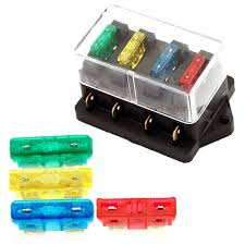 popular dc fuse box buy cheap dc fuse box lots from dc fuse high quality 4 way fuse box dc 24v circuit car trailer auto blade fuse box block