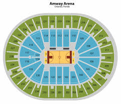 Amway Arena Seating Chart Orlando Magic Tickets Orlando