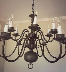 easy brass chandelier makeover lemons lilies
