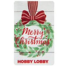 Gift Cards For Christmas Merry Christmas Wreath Gift Card Hobby Lobby