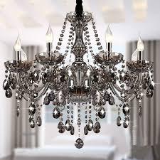 modern crystal chandeliers lighting lustre de smokey grey ceiling lamp dining room light fixtures 6 dining light fixtures g44 light