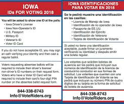 Bilingual Vid Voteriders - Iowa · Cards 2018 Fb
